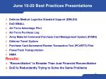 june 19 20 best practices presentations