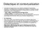 didactique et contextualisation