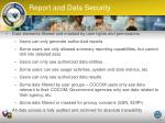 report and data security