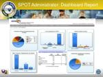 spot administrator dashboard report