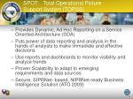 spot total operational picture support system topss