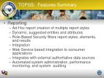 topss features summary