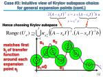 case 3 intuitive view of krylov subspace choice for general expansion points cont