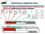 reducing to algebraic form