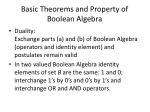basic theorems and property of boolean algebra