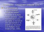 constraints coordinate systems cont
