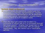 constraints implementation