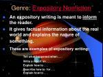 genre expository nonfiction