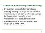 kriterie d symptomer p overaktivering41