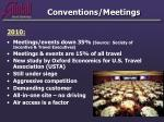 conventions meetings