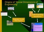origins of social dimensions of engineering