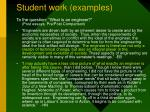 student work examples