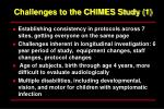 challenges to the chimes study 1