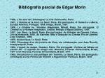 bibliografia parcial de edgar morin