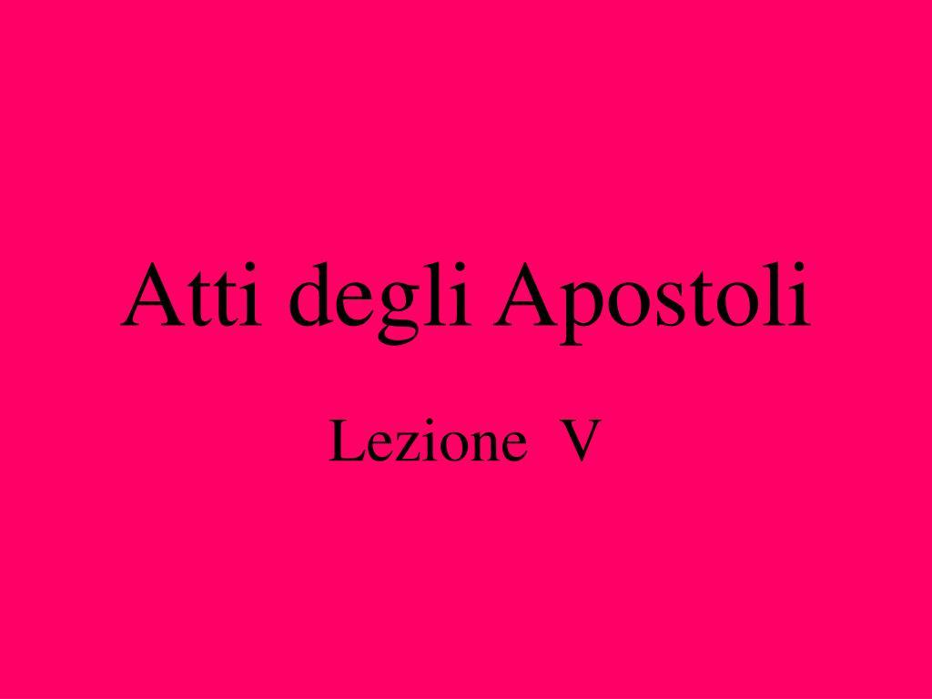 atti degli apostoli l.