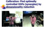 calibration find optimally controlled dofs synergies by dimensionality reduction