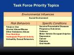 task force priority topics