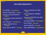 secondary education i