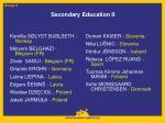 secondary education ii