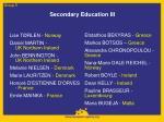 secondary education iii