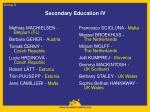 secondary education iv