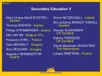secondary education v