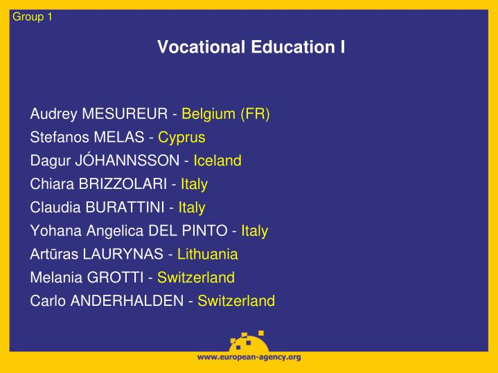 Vocational education i