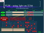 vlm using 3gb on 32 bit
