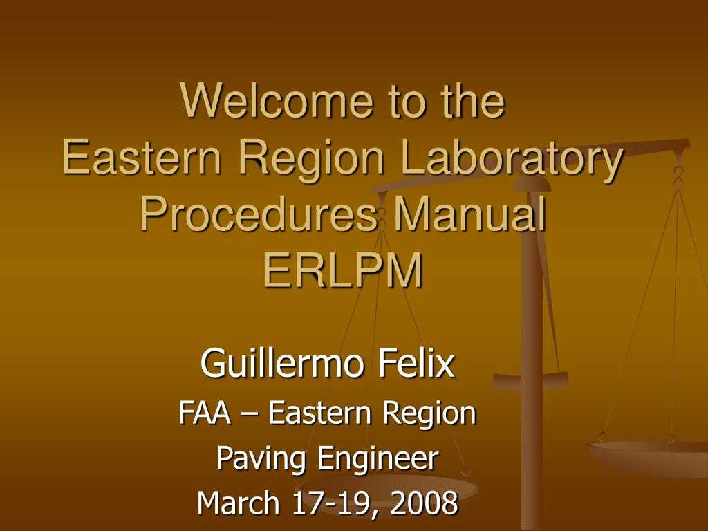 welcome to the eastern region laboratory procedures manual erlpm l.