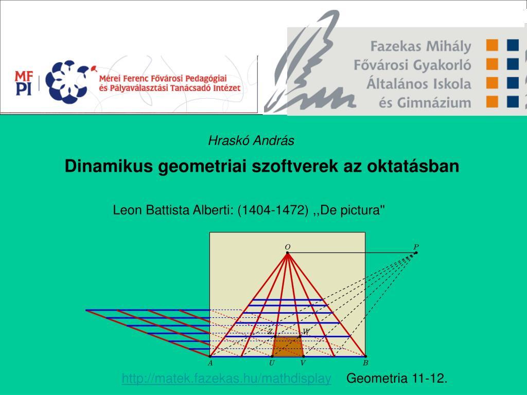 dinamikus geometriai szoftverek az oktat sban l.