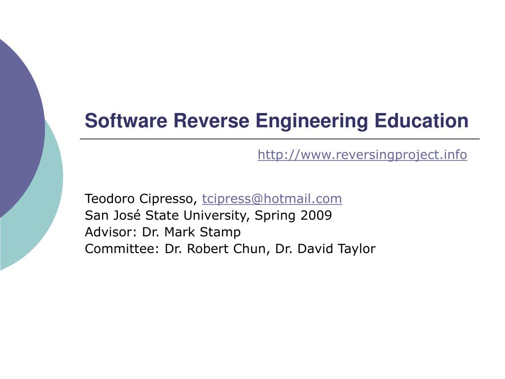 software reverse engineering education l.