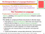 the biological basis of language readiness 2