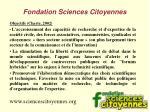 fondation sciences citoyennes