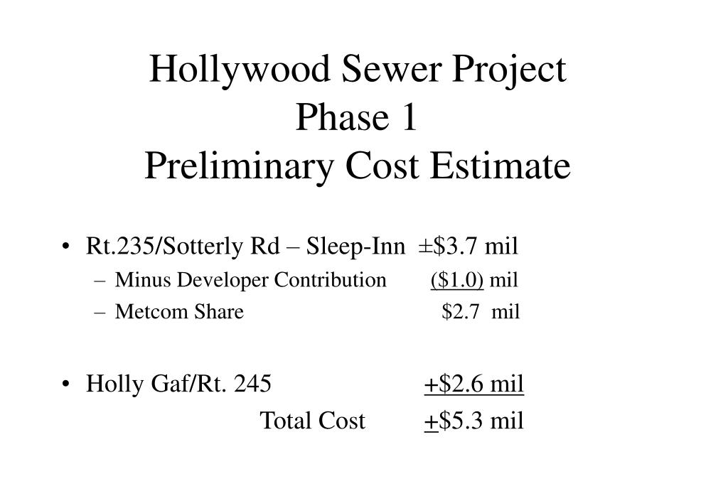 Hollywood Sewer Project