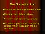 new graduation rule