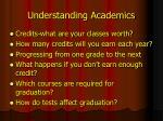 understanding academics