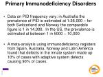 primary immunodeficiency disorders