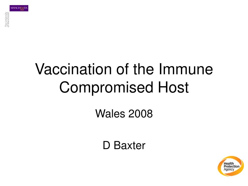 vaccination of the immune compromised host l.