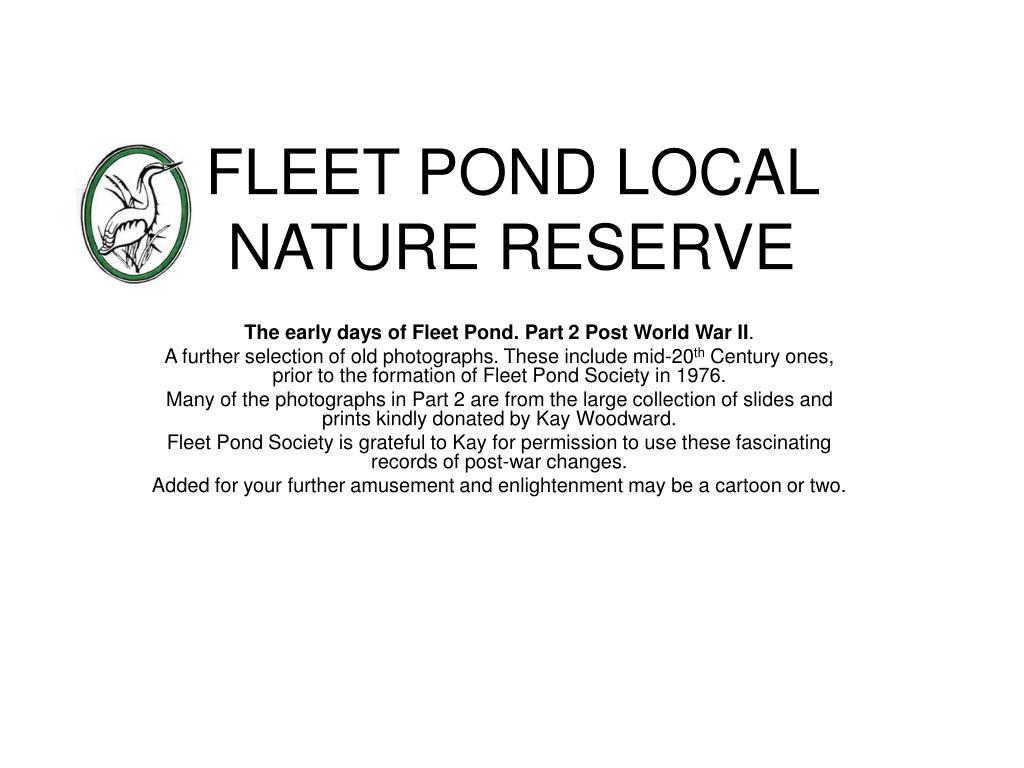 fleet pond local nature reserve l.