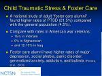 child traumatic stress foster care