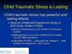 child traumatic stress is lasting
