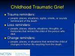 childhood traumatic grief68