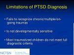 limitations of ptsd diagnosis45