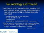 neurobiology and trauma