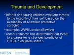 trauma and development69