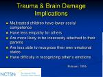 trauma brain damage implications