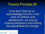 trauma principle 3