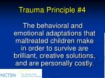 trauma principle 4