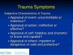 trauma symptoms