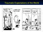 traumatic expectations of the world